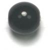 Glass 10mm Jet Round Bead Strung